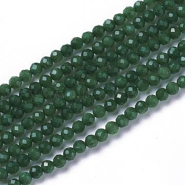 2mm Green Round African Jade Beads