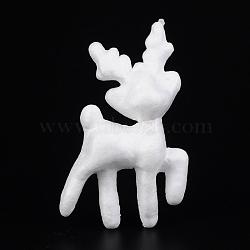Cerf sika pour la modélisation de Noël mousse de polystyrène, Styrofoam bricolage décoration artisanat, blanc, 105x64x32mm(X-DJEW-M005-06)