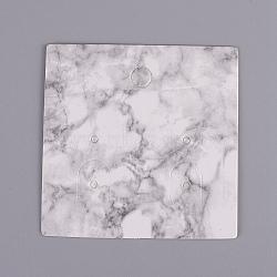 Cartes d'affichage de bijoux en carton, carrée, fumée blanche, 4.5x4.5x0.05 cm(CDIS-WH0010-02-A)