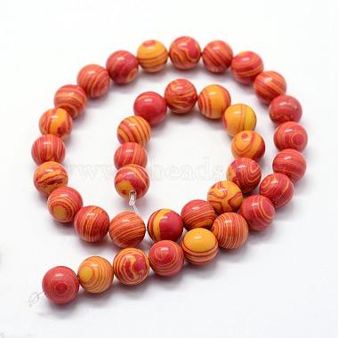 Synthetic Malachite Beads Strands(G-I199-32-10mm)-3