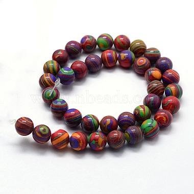 Synthetic Malachite Beads Strands(X-G-I199-32-10mm-C)-2