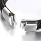 Men's Braided Leather Cord Bracelets(BJEW-H559-18B)-4
