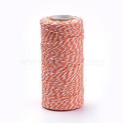 Cotton Cords, Macrame Cord, DarkOrange, 1.5~2mm; about 50yards/roll(150 feet/roll)(YC-R007-A26)