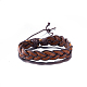Adjustable Casual Unisex Braided Leather Bracelets(BJEW-BB15584)-1