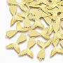 латунные подвески, русалка русалки, золотой, 19x13x0.4 mm, отверстия: 1.2 mm
