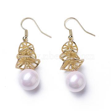 LavenderBlush Mixed Material Earrings