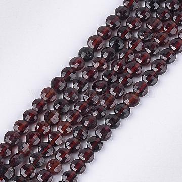 4mm Flat Round Garnet Beads