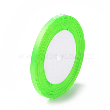 Single Face Satin Ribbon, Polyester Ribbon, YellowGreen, 1/4inch(6mm); about 25yards/roll(22.86m/roll), 10rolls/group, 250yards/group(228.6m/group)(RC6mmY057)