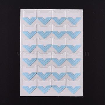Photo Mounting Corners, Self Adhesive Sticker, for DIY Scrapbook Album Diary Personal Organizer Notebook, Light Blue, 12.5x9x0.07cm, Sticker: 21x20mm; 24pcs/sheet(DIY-K016-D10)
