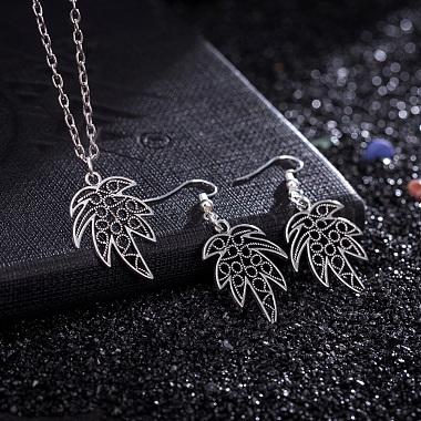 Zinc Alloy Coconut Leaf Jewelry Sets(SJEW-BB16592)-2