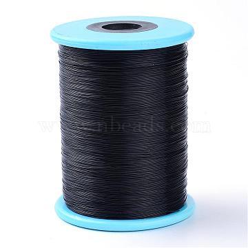 Fishing Thread Nylon Wire, Black, 0.5mm, about 984.25 yards(900m)/roll(NWIR-R038-0.5mm-01)