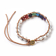 Natural Mixed Stone Cord Beaded Bracelets(BJEW-E351-02)-3
