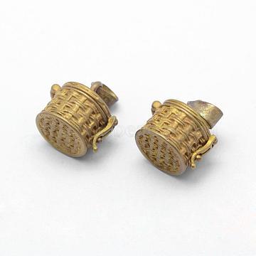 Unplated Column Brass Pendants