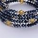 Electroplate Glass Bead Wrap Bracelets(BJEW-JB03503-03)-2