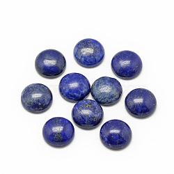 Cabochons en lapis lazuli naturel, teint, demi-rond / dôme, 6x3~4mm(X-G-R416-6mm-33)