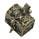 Brass Prayer Box Pendants(X-KK-24X16-AB)-1