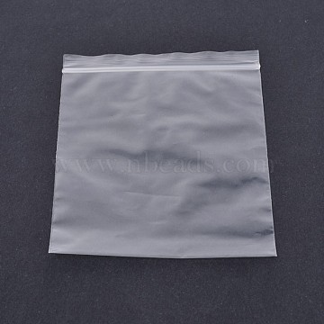 Plastic Zip Lock Top Seal Bags, Resealable Packaging Bags, Rectangle, Clear, 12x8cm; Bilateral thickness: 0.1mm; about 100pcs/bag(X-OPP-O002-8x12cm)