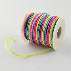 Nylon Thread, Colorful, 1.5mm, 50yards/roll(150 feet/roll)(NWIR-R007-1.5mm-01)