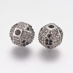 304 perles de strass en acier inoxydable, arrondir, couleur inox, 10x10 mm, trou: 2 mm(STAS-F195-105P)