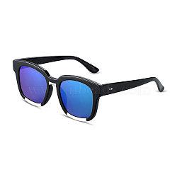 мода стиль звезды лета женщин солнцезащитные очки, черные пластиковые рамы и ПК пространства линзы, цвет морской волны, 4.4x14.5 cm(SG-BB14395-3)