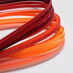 Bandes de papier quilling de 6 couleurs, rouge progressive, 530x5mm; à propos 120strips / sac, 20strips / couleur(X-DIY-J001-5mm-A01)