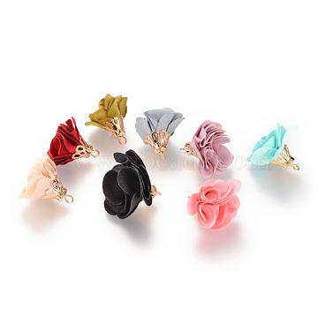 Mixed Color Flower Cloth Pendants
