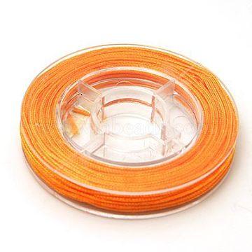Nylon Thread for Jewelry Making, Orange, 0.8mm, about 10.93 yards(10m)/roll(X-NWIR-N001-0.8mm-07)