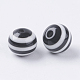 Round Striped Resin Beads(X-RESI-R158-8mm-11)-2