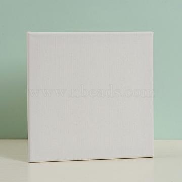 Blank Linen Wood Primed Framed, for Painting Drawing, Square, White, 25x25.2x1.7cm(DIY-G019-06B)