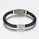 Braided Leather Cord Bracelets(BJEW-H560-33)-3
