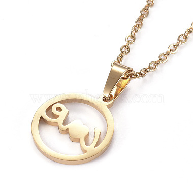 304 Stainless Steel Pendant Necklaces(NJEW-I237-07G)-3