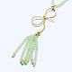 Natural Prehnite Tassels Pendant Necklaces(NJEW-K106-01I)-3