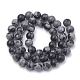 Synthetic Snowflake Obsidian Beads Strands(G-R342-8mm-21)-2