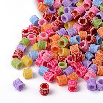 8mm Mixed Color Column Acrylic Beads