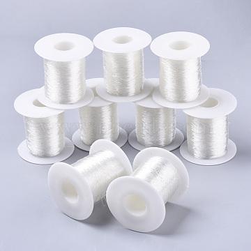 Round Elastic Crystal Thread, Stretchy Bracelet String, Clear, 0.6mm, about 131.23 yards(120m)/roll(EW-R007-B-01)