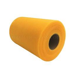 Tissu de filet, Tissu à carreaux en tulle pour la fabrication de jupe, orange, 6'' (15 cm); environ 100 mètres / rouleau (91.44 m / rouleau)(OCOR-P010-D-C06)