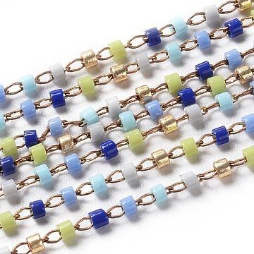 Colorful Brass+Glass Handmade Chains Chain
