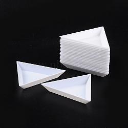 Les plateaux d'affichage en matière plastique, blanc, taille: 7.3 cm de large, 7.3 cm de long, 1 cm de haut(C015Y)