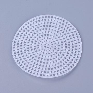 Cross Stitch Mesh Board, Plastic Canvas Sheets, White, 76.5x1.5mm(DIY-WH0143-99)