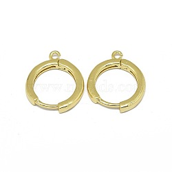 Alloy Huggie Hoop Earring Findings, Long-Lasting Plated, Circle Ring, Golden, 16.5x13.5x2mm, Hole: 1.2mm; Pin: 0.8mm(X-PALLOY-F249-19G)