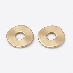 Entretoises acryliques de perle peintes par pulvérisation de mat, verge d'or, 24.5x2mm, Trou: 8mm(X-ACRP-N001-12A)