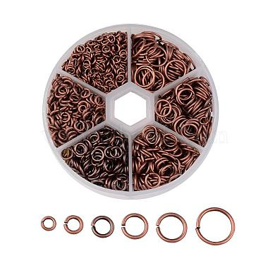 Red Copper Ring Brass Close but Unsoldered Jump Rings