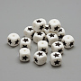 12mm White Cube Silicone Beads(X-SIL-R002-01)