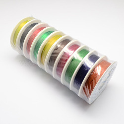 Iron Wire, Mixed Color, 0.3mm, 20m/roll, 10rolls/set(MW-R001-0.3mm-M)