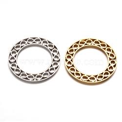 304 infini en acier inoxydable anneaux connecteurs, couleur mixte, 35x2mm, Trou: 23mm(STAS-F079-01)