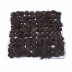Décoration de boule de fourrure de vison faux, boule de pom pom, pour bricolage, coconutbrown, 2~2.5 cm(X-FIND-S267-2.5cm-01)