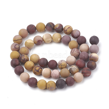 Chapelets de perles en mokaite naturel(G-T106-158)-3