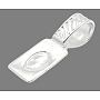 Silver Brass Glue-on Flat Pad Bails(X-K624-NFS)