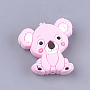 Pearl Pink Other Animal Silicone Beads(X-SIL-T052-03B)