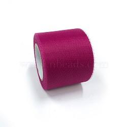 Tissu de filet, Tissu à carreaux en tulle pour la fabrication de jupe, mediumvioletred, 2'' (5 cm); environ 25 mètres / rouleau (22.86 m / rouleau)(OCOR-P010-C-C16)